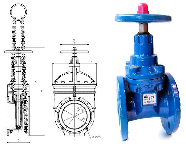 Задвижка клиновая фланцевая является ведущей частью любого промышленного или бытового трубопровода